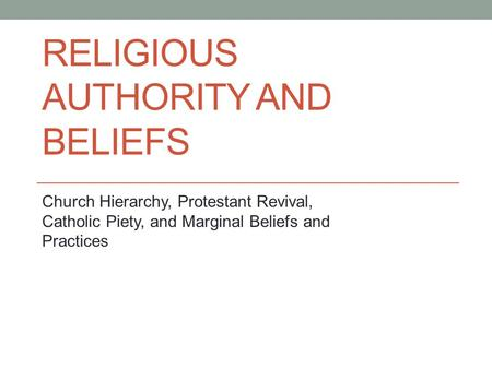 Are Religious Beliefs and Practices Changing to Reflect a New Era of Diversity and Choice?