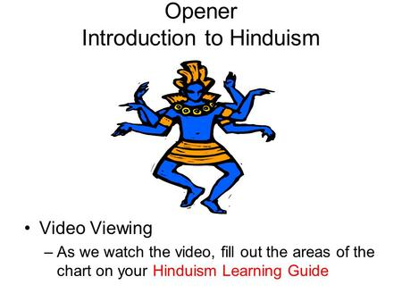 Opener Introduction to Hinduism