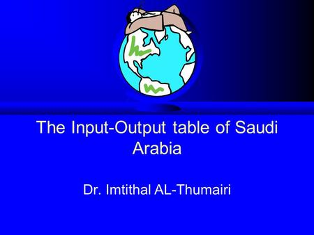 The Input-Output table of Saudi Arabia