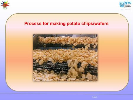 Process for making potato chips/wafers