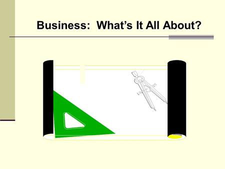 Business: What's It All About?. Purpose of a Business For profit Not-for-profit.