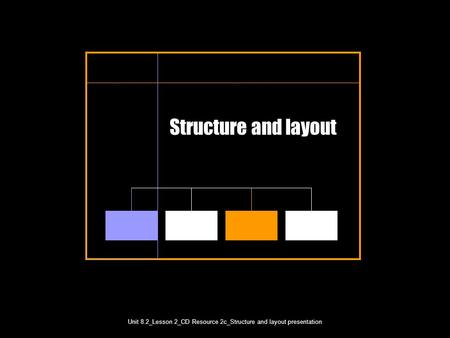 Unit 8.2_Lesson 2_CD Resource 2c_Structure and layout presentation Unit 8.2_Lesson 2 Structure and layout.