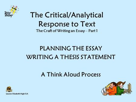 writing a thesis statement ppt  writing a thesis statement