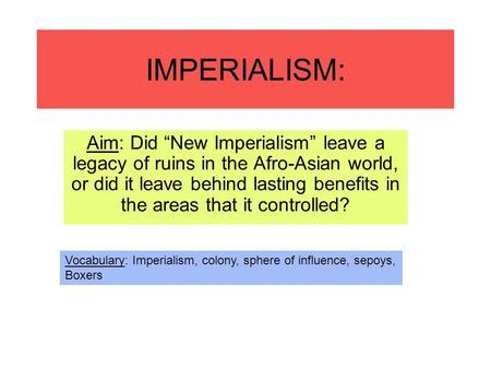 Imperialism dbq essay