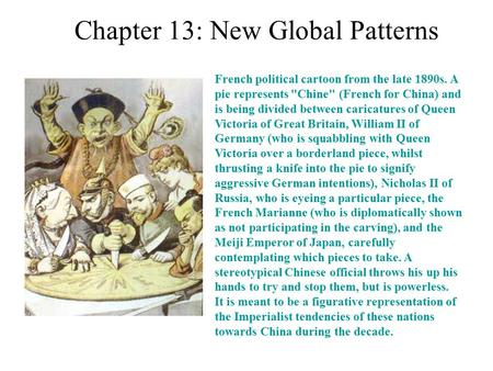 Chapter 13: New Global Patterns
