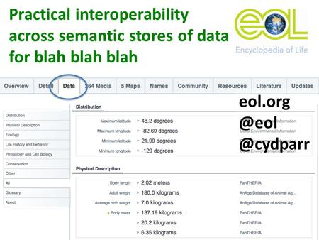 Practical interoperability across semantic stores of data for blah blah