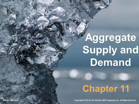 Aggregate Supply and Demand Chapter 11 Copyright © 2011 by The McGraw-Hill Companies, Inc. All Rights Reserved.McGraw-Hill/Irwin.