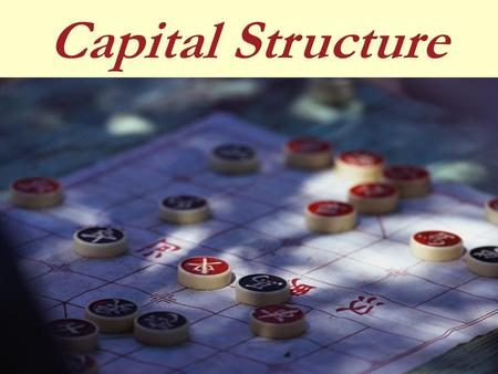 Capital Structure. Capital Structure concept Capital Structure planning Concept of Value of a Firm Significance of Cost of Capital (WACC) Capital Structure.
