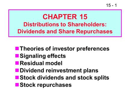 Share repurchases and the dilutive effect of stock options