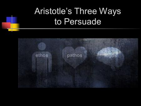 Aristotle's Three Ways to Persuade. Who is Aristotle? Aristotle (384-322 BCE) is the most notable product of the educational program devised by Plato.