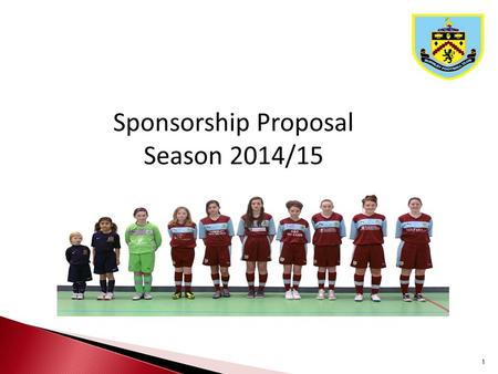 1.  Women's Football in the UK  Structure of Burnley FC Girls & Ladies  North West Football Leagues  Sponsorship Opportunities Table of Contents 2.