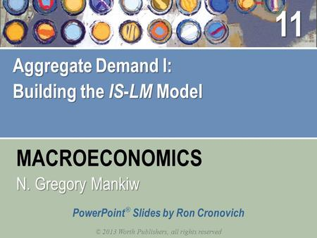 MACROECONOMICS © 2013 Worth Publishers, all rights reserved PowerPoint ® Slides by Ron Cronovich N. Gregory Mankiw Aggregate Demand I: Building the IS.