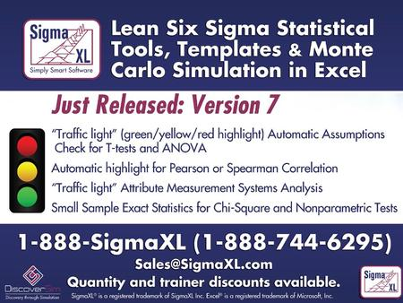 Introducing SigmaXL ® Version 7 Powerful. User-Friendly. Cost-Effective. Priced at $249, SigmaXL is a fraction of the cost of any major statistical product,
