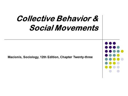 "sociology and social movements Such efforts have been called social movements a social movement may,  therefore, be defined as ""a collectively acting with some continuity to promote or  resist."