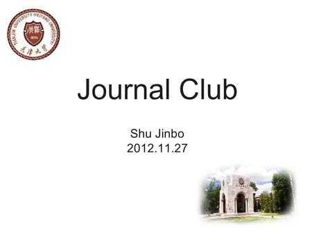 Journal Club Shu Jinbo 2012.11.27. Direct Synthesis of Self-Assembled Ferrite/Carbon Hybrid Nanosheets for High Performance Lithium-Ion Battery Anodes.