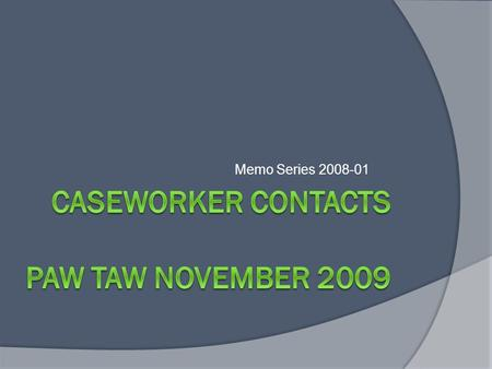 Memo Series 2008-01. Overview  Requirements  Frequently Asked Questions  Reports  Reporting to the Federal Government Did Wisconsin Make the target.