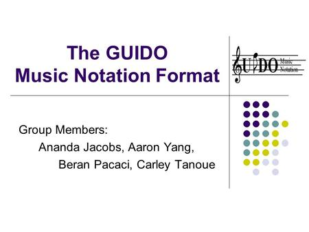 The GUIDO Music Notation Format