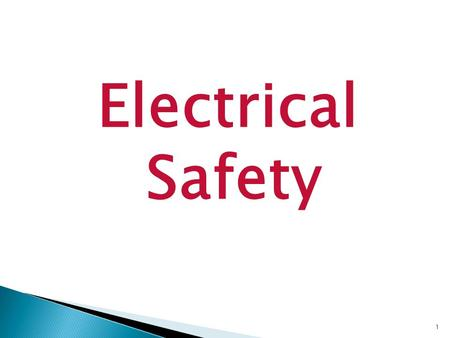 Electrical Safety 1. Before use of any electric power tool you must first be trained on use and inspection before use.  Are any guards missing?  Is.
