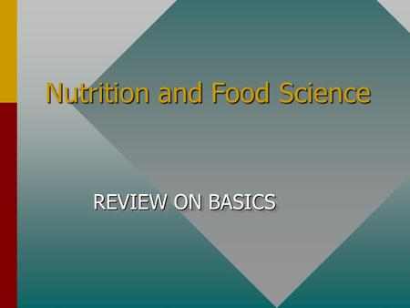 Nutrition and Food Science REVIEW ON BASICS. To beat eggs use a: Wire whip.
