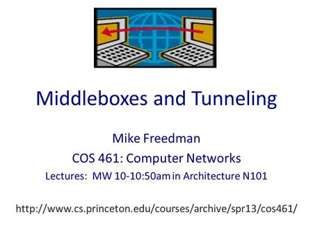 Middleboxes and Tunneling Mike Freedman COS 461: Computer Networks Lectures: MW 10-10:50am in Architecture N101