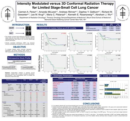 INTRODUCTION  The majority of clinical trials addressing outcomes in limited- stage small cell lung cancer (LS-SCLC) following definitive chemoradiotherapy.