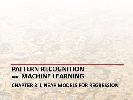 christopher m bishop pattern recognition and machine learning pdf