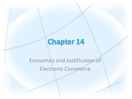 Economics and Justification of Electronic Commerce.