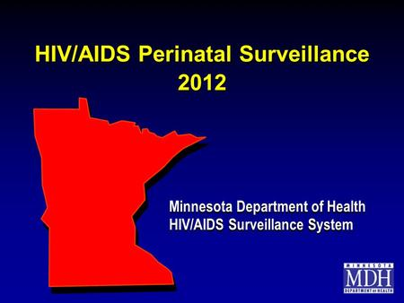 HIV/AIDS Perinatal Surveillance 2012 Minnesota Department of Health HIV/AIDS Surveillance System Minnesota Department of Health HIV/AIDS Surveillance System.