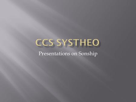 "Presentations on Sonship.  Genesis 3:15 – a ""seed"" of future enmity, referring to Christ."