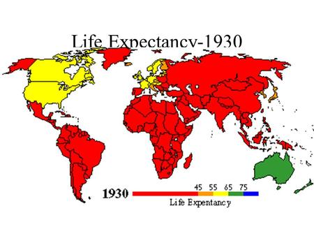 Life Expectancy-1930. Life Expectancy-1960 Life Expectancy-1990.