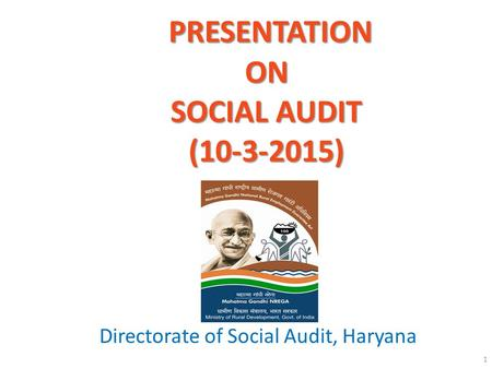Presentation on SOCIAL AUDIT ( )
