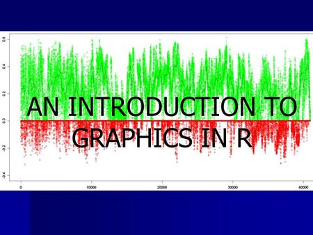 AN INTRODUCTION TO GRAPHICS IN R. Today Overview Overview –Gallery of R Graph examples High-Level Plotting Functions High-Level Plotting Functions Low-Level.