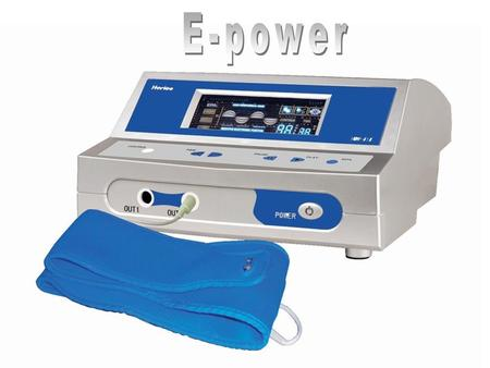 Introduction E-power was designed to provide Negative Potential Energy (Anion Effect) With High Frequency Energy (Resonance). A Technological Breakthrough.