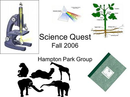 Science Quest Fall 2006 Hampton Park Group. What we learned about Plants Bugs Infrared Acids and Bases The ocean Our trip to the Zoo!