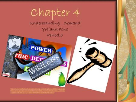 Chapter 4 Understanding Demand Yoliann Pons Period.5