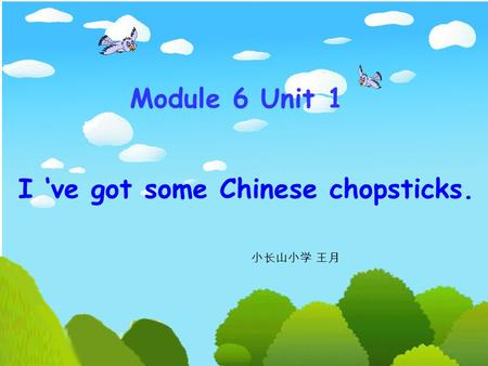 I 've got some Chinese chopsticks. Module 6 Unit 1 小长山小学 王月.