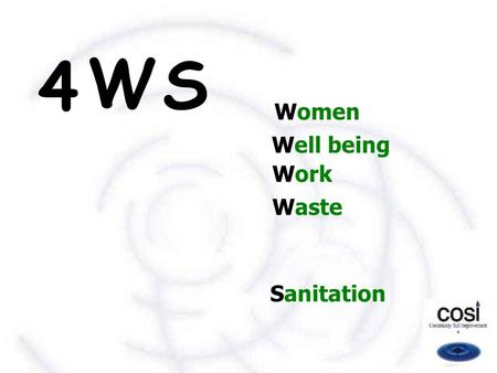 Women Well being Work Waste Sanitation S W 4. An action research  On alternative strategies of environmental sanitation and waste management  For improved.