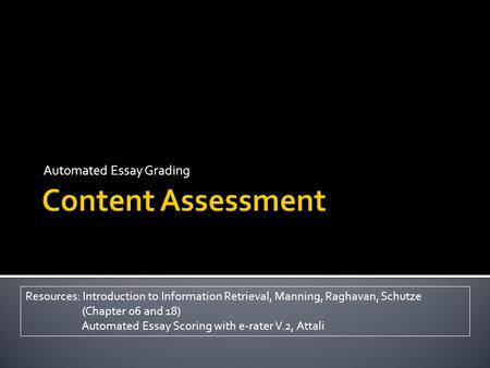 Automated essay scoring using generalized latent semantic analysis