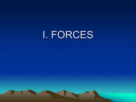 I. FORCES. 1. What is a force? A lift, push or pull.