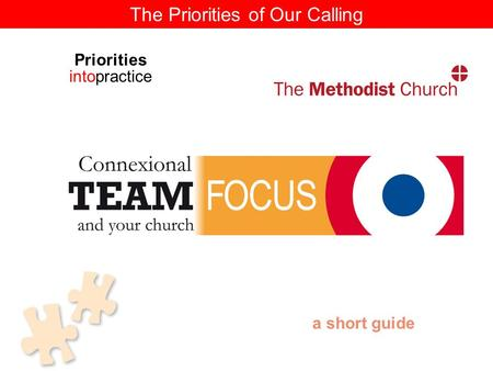 The Priorities of Our Calling a short guide Priorities intopractice.