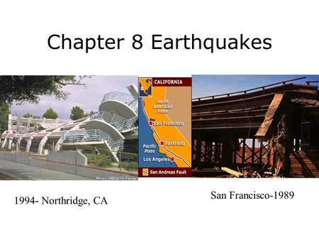 Chapter 8 Earthquakes 1994- Northridge, CA San Francisco-1989.