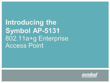 Introducing the Symbol AP-5131