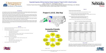 Expanded Capacity of African American Family Caregivers: Project C.A.R.E. in North Carolina Ishan C. Williams, Ph.D. 1,3 & Christopher M. Kelly, Ph.D.