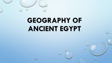 Geography of Ancient Egypt