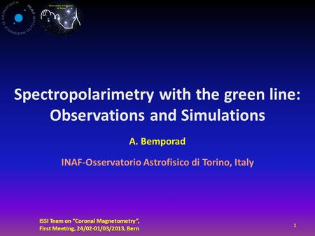 Spectropolarimetry with the green line: Observations and Simulations