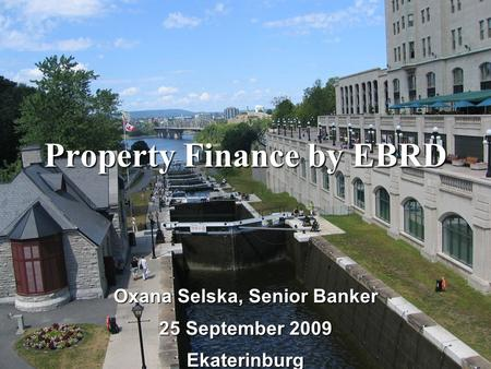 Property Finance by EBRD