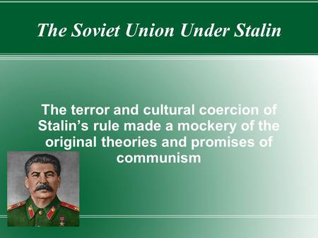 essay on the rule of stalin