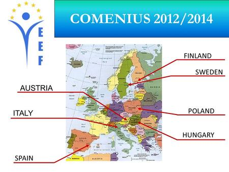 COMENIUS 2012/2014 SPAIN ITALY AUSTRIA FINLAND SWEDEN HUNGARY POLAND.