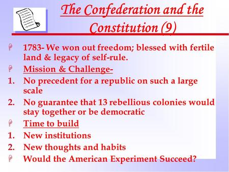 a definition of primogeniture and confederation You just finished chapter 9: the confederation and the constitution, 1776-1790nice work previous chapter next chapter tip: use ← → keys to navigate.