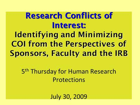 how to write conflict of interest in research